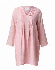 Orchid Pintuck Linen Dress