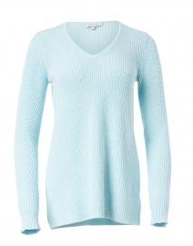 Skylight Blue Cotton Easy Rib Sweater