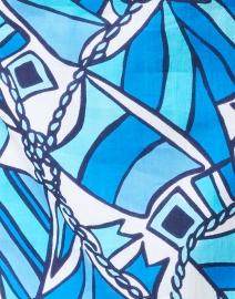 Sail to Sable - Blue Flag Print Cotton Voile Classic Tunic