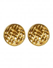 Lontar Gold Weave Stud Earring