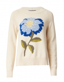 Domizia Floral Intarsia Cotton Sweater