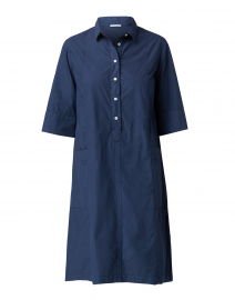 Navy Cotton Shirt Dress