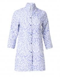 Rita Lavender Floral Linen Jacket