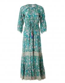 Chelsea Green Floral Silk Cotton Voile Dress