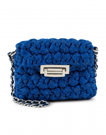 Nana Sapphire Blue Lurex Crossbody Bag