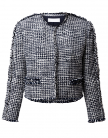 Johellina Navy and White Tweed Jacket