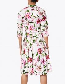 Samantha Sung - Audrey White Lily Printed Stretch Cotton Dress