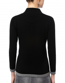 Blue - Black Cotton Sweater
