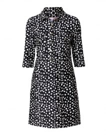 Sloane Black Spot Printed Henley Dress