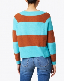 Lisa Todd - The Standout Blue and Cognac Cashmere Sweater