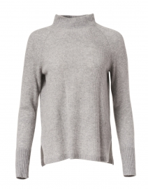 Grey Heather Mixed Stitch Cashmere Sweater