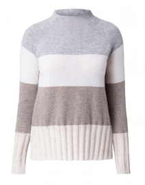 Wide Multi Stripe Cashmere Sweater
