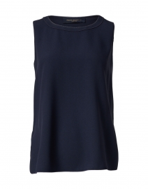 Navy Top with Contrast Seams