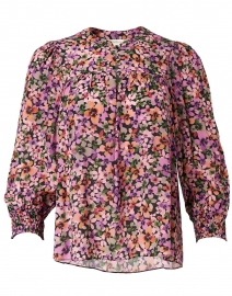 Hudson Lilac and Orange Floral Printed Blouse