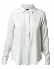Jade Stretch Silk Button Down Shirt