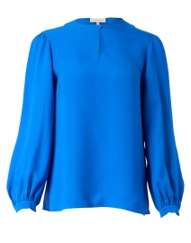 Layton Ultramarine Blue Silk Blouse