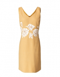 Laurie Orange Embroidered Dress