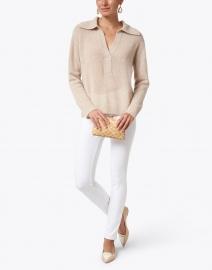 Brochu Walker - Bree Beige Cashmere Henley Sweater