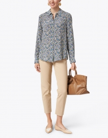 Weekend Max Mara - Dany Blue and Yellow Floral Silk Shirt