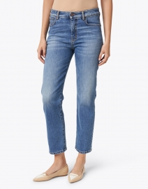 Weekend Max Mara - Jardin Blue Stretch Denim Straight Leg Jeans