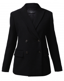Grolla Black Cotton Jersey Blazer