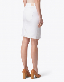 Marc Cain - White Denim Zip Up Skirt