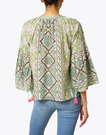 D'Ascoli - Margita Green Floral Print Cotton Top