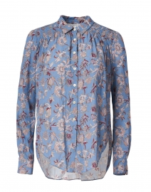 Dazed Cornflower Blue Floral Print Shirt