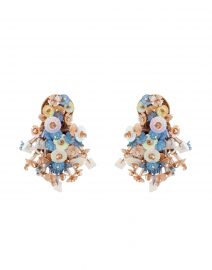 Nova Light Blue Flower Burst Earring