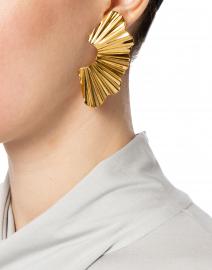 Jennifer Behr - Nautia Gold Wave Earrings