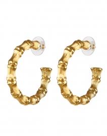 Gold Bamboo Hoop Earring