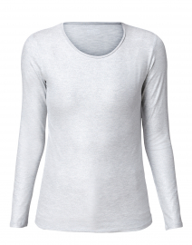 Metallic Silver Stretch Viscose Tee