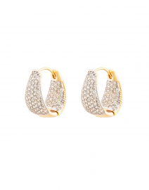 Armure Gold Pavé Mini Hinge Hoops