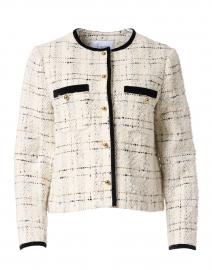 Silvia Cream and Black Tweed Jacket