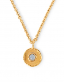 Sylvia Toledano - Chalcedony Blue Gold Pendant Necklace