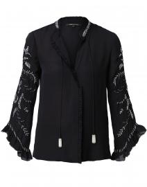 Margo Black Embellished Silk Blouse