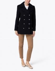 Saint James - Briac Navy Wool Peacoat