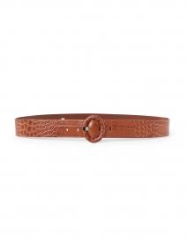 Key Brown Textured Croc Belt