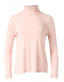 Powder Pink Ribbed Pima Cotton Top