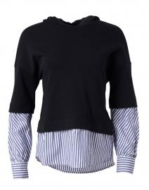 Navy Cotton Layered Sweatshirt