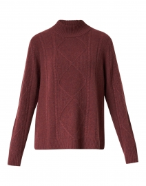 Burgundy Diamond Stitch Cashmere Sweater