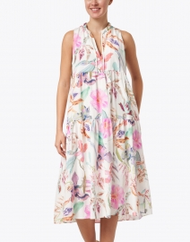 Marc Cain - White and Multi Floral Print Dress