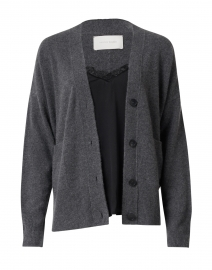 Dark Grey and Black Cardigan Lace Looker