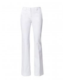 Maggie White Denim Flare Pant