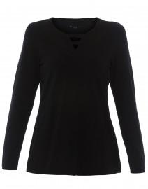 Black Looped Inset Pima Cotton Tunic