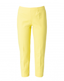 Audrey Citron Yellow Stretch Cotton Pant