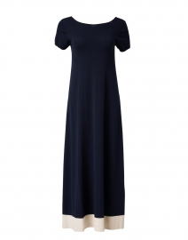 Papaile Navy and Ivory Stretch Dress