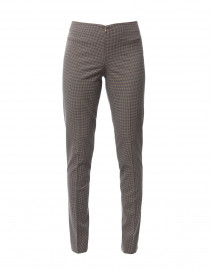 Jezebelle Camel and Navy Checkered Pant