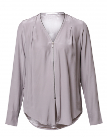 Light Grey Silk Blouse