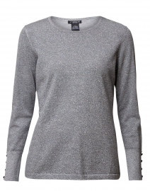 Metallic Silver Sweater